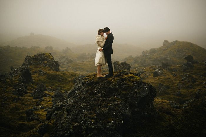 Jamie and Pia's Icelandic Black Church Elopement