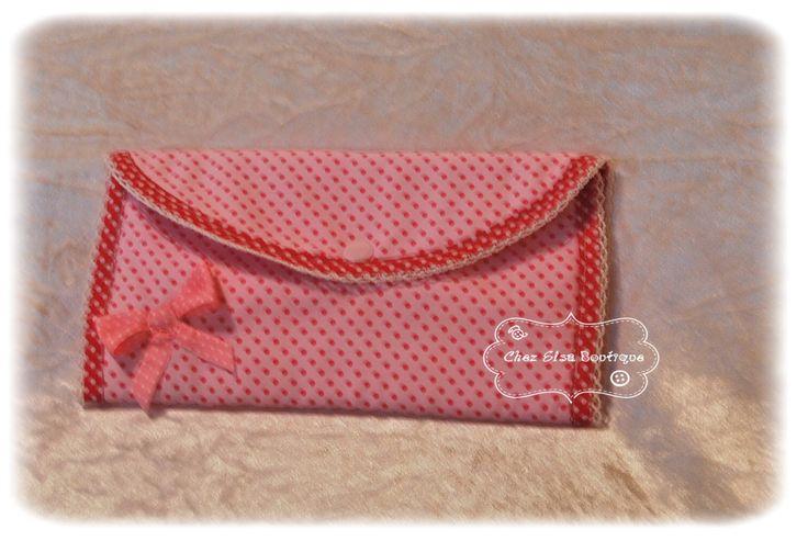 Pochette à accessoires de coiffure à pinces, barrettes et élastiques tons rose : Accessoires coiffure par chez-elsa-boutique