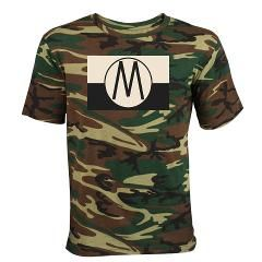Monroe Republic Flag Dark T-Shirt > FanStastic Gear Designed by @Auntie Shoe, a camo patterned tee features the flag of the #Monroe Republic from the NBC TV series #REVOLUTION.