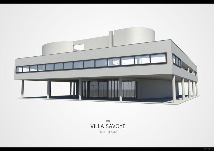 Villa Savoye Front Elevation : Villa savoye front render by ivarhill