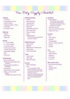 newborn baby boy checklist pdf