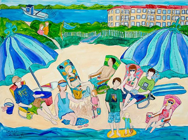 Three generations down on the beach sharing another great family summer.  More info at http://www.DeborahCavenaugh.com