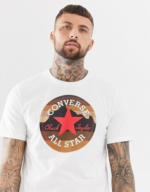 0671f6013323df Converse Chuck Logo T-Shirt in white 10009064-A01 in 2019