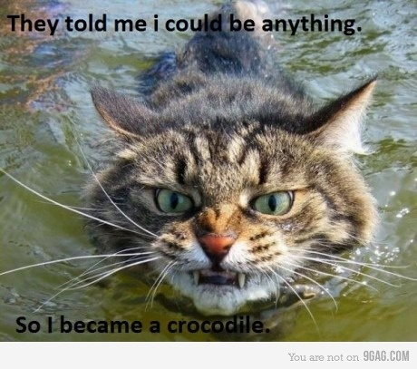 They told me I could be anything. So I became a crocodile.