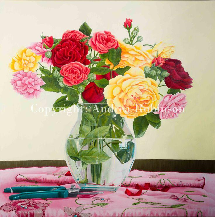 Roses Andrea Robinson Fine Art www.andrearobinson.co.nz