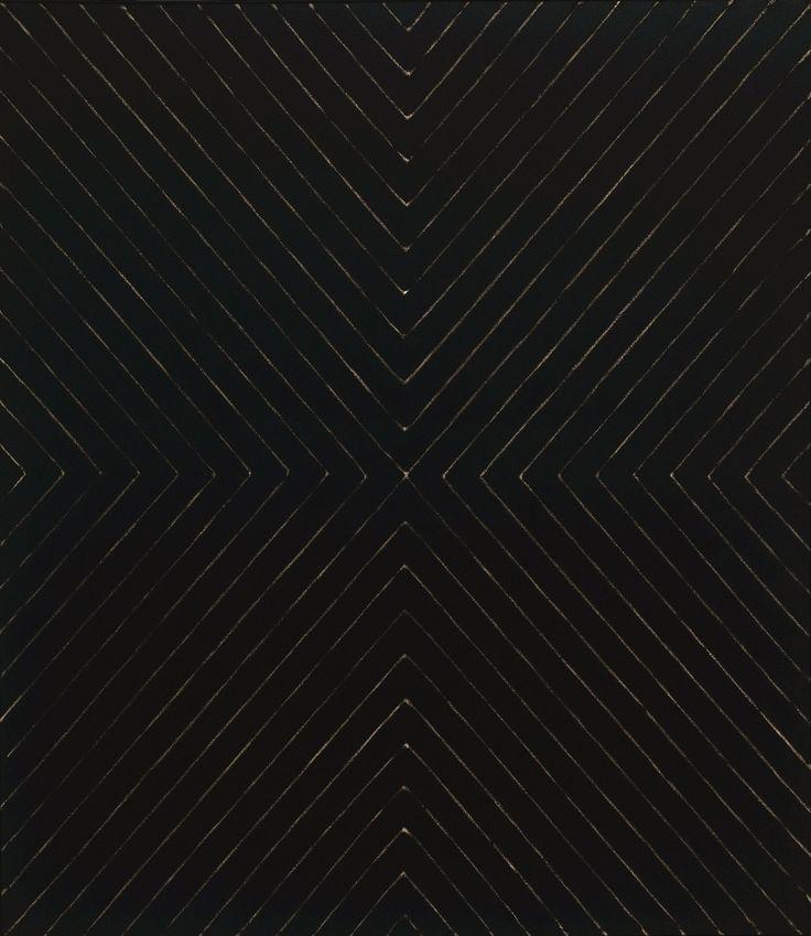 Frank stella black paintings black mysterious for Frank stella peinture