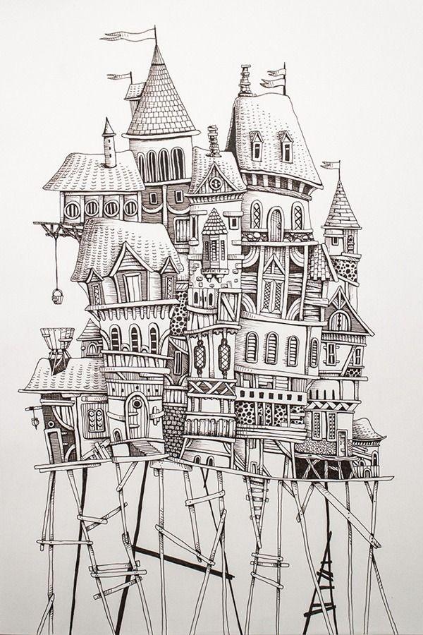1000 Drawings Eren Dedeleroglu Illustration Art Drawings Zentangle Art