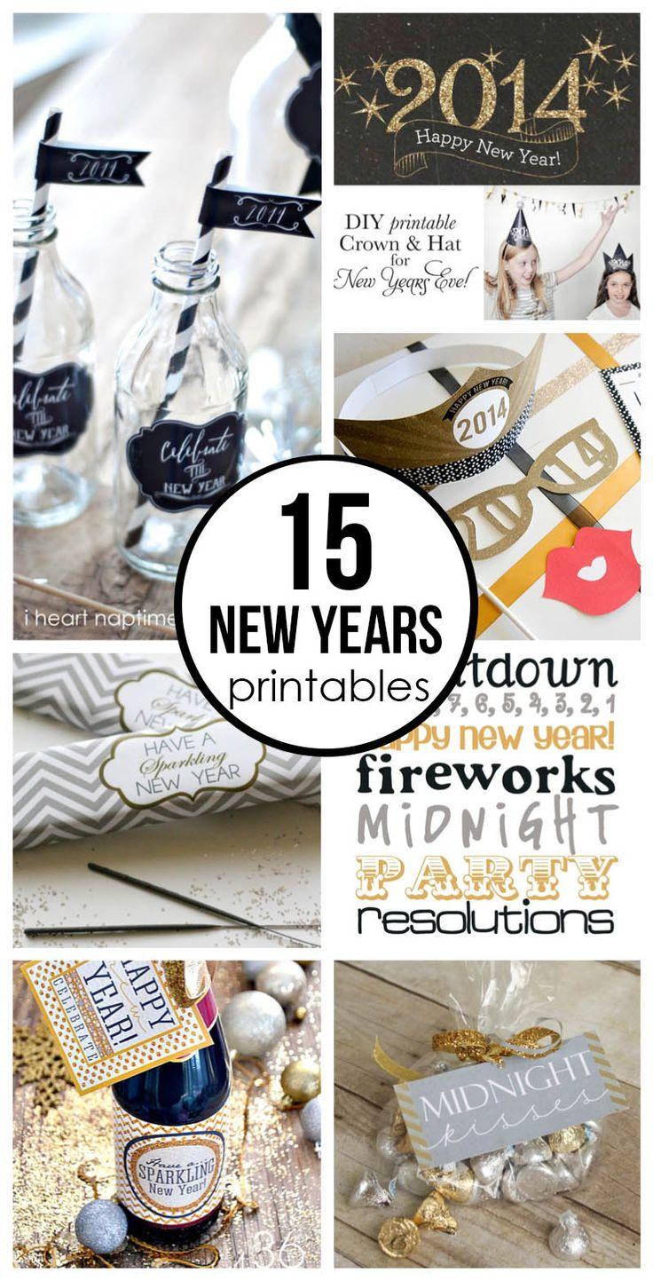 15 free New Years Eve printables on iheartnaptime.com ...so many fabulous ideas!
