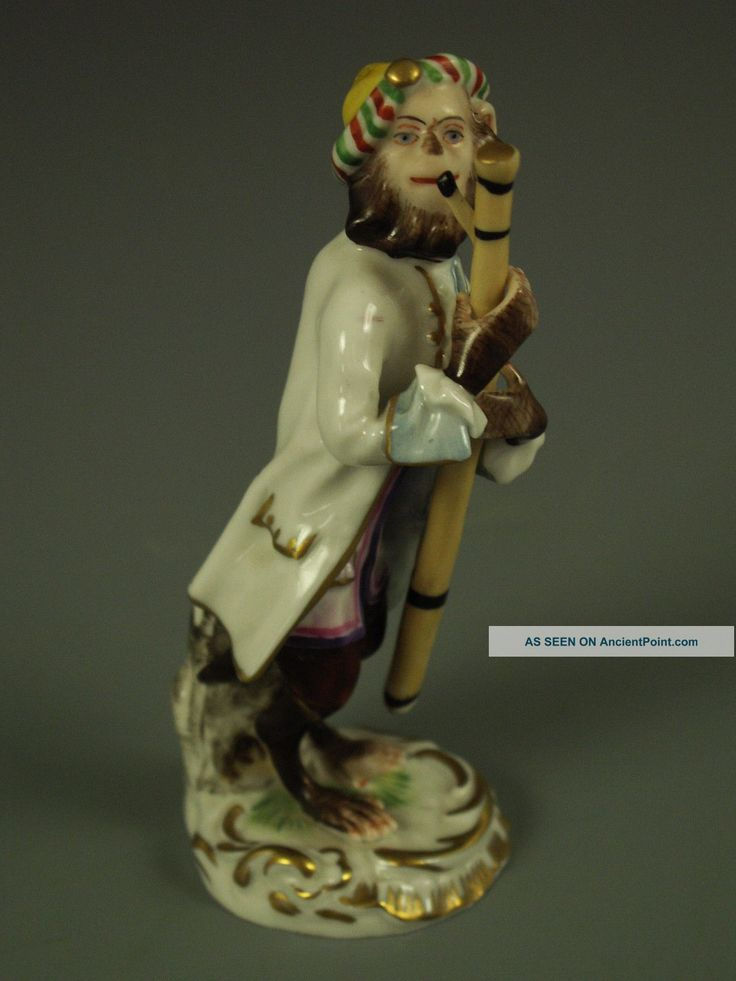 Antique german porcelain bassoon monkey figure p l a y i n 39 pinterest porcelain antiques - Gorilla figurines ...