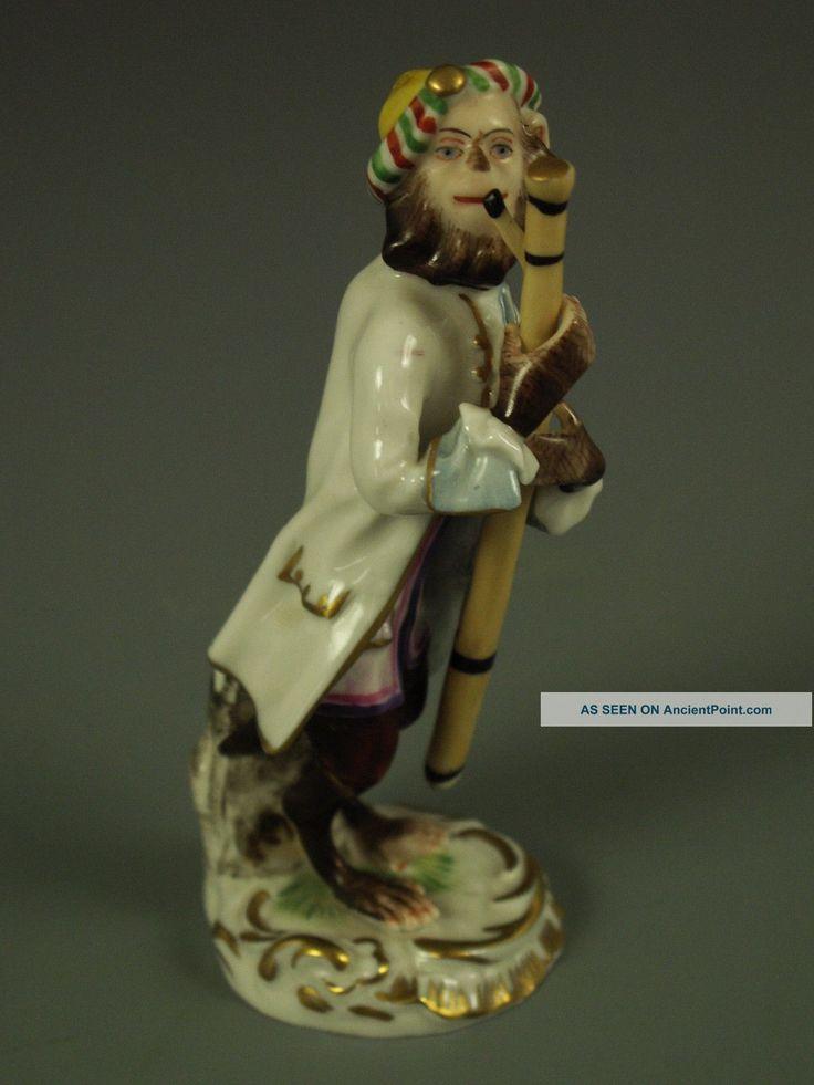 Antique german porcelain bassoon monkey figure p l a y i n 39 pinterest porcelain antiques - Gorilla figurines ...