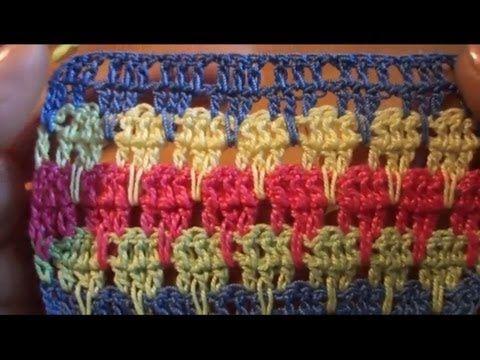 Длинные столбики с одним накидом Вязание крючком Урок 21 Crochet: Long columns with one trebles - YouTube