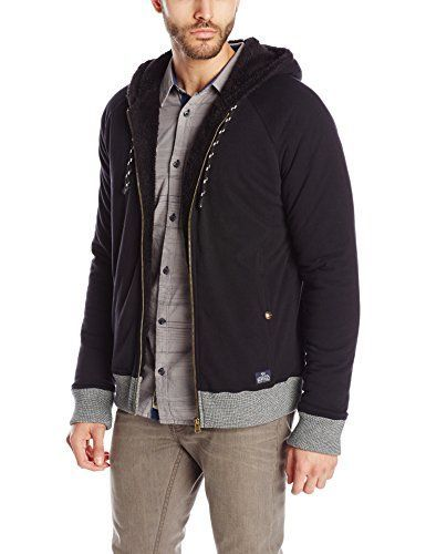 Buffalo David Bitton Mens Findom Long Sleeve Zip Up Sherpa Lined Fleece Jacket Cannon Small >>> Want to know more, click on the image.