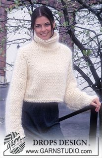 DROPS 63-18 - DROPS Cropped Pullover in Alaska and Vienna. - Free pattern by DROPS Design