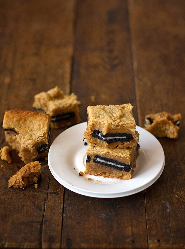 Peanut Butter Oreo Blondies. Added crushed Oreos and Chocolate Chunks ...