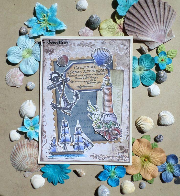 Carte Nautique Marin Bateau Phare Ancre : Cartes par steffy-elsass-crea