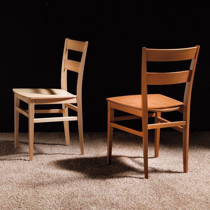 Sedia da cucina in legno faggio o ciliegio Carissa