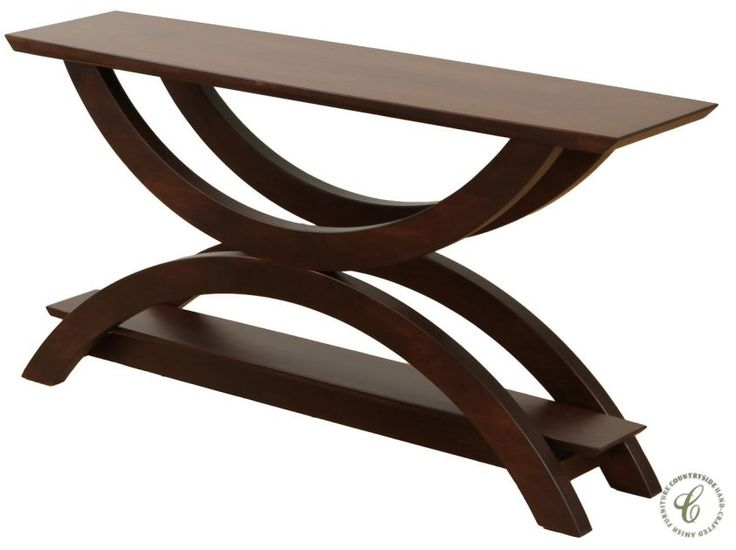 Neo Brown Maple Console Table Countryside Amish Furniture Amish Furniture Sofa Table Furniture