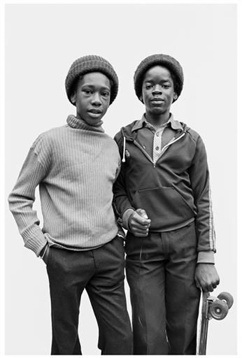 Self Portrait, Handsworth, England, United Kingdom, 1979, by Derek Bishton, Brian Homer and John Reardon.