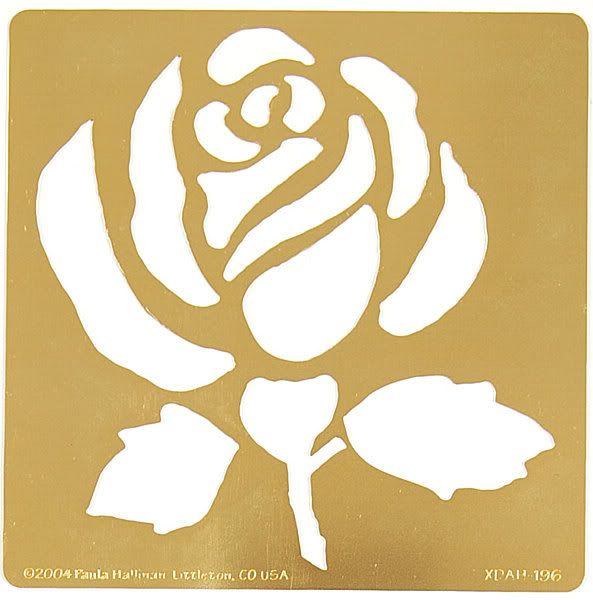 Smart image in rose stencil printable