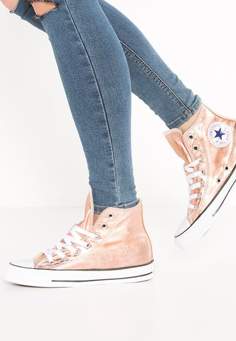 CONVERSE CHUCK TAYLOR ALL STAR METALLIC TRAINERS SUNSET GLOW SZ. UK 4