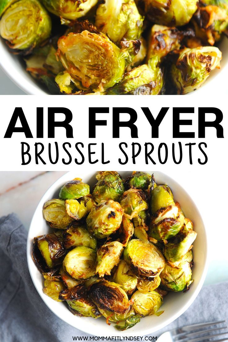 Crispy Air Fryer Brussels Sprouts Momma Fit Lyndsey Recipe Brussel Sprouts Sprout Recipes Recipes