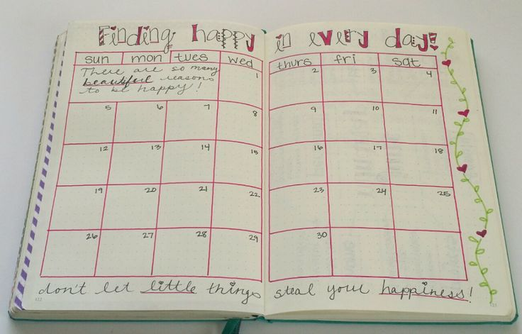 Bullet Journal Happiness Tracker