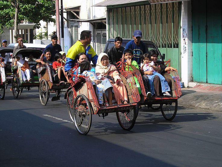Becak transport in Jakarta