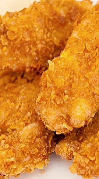Corn Flakes Chicken Tender Strips ❊