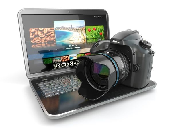Picture Editing Equipment - Camera and Laptop