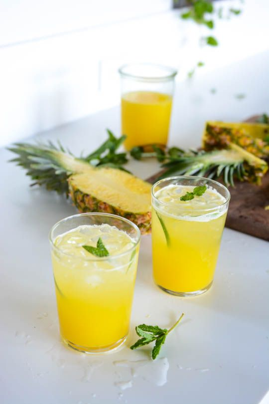 If you are suffering from morning sickness give this pineapple and ginger drink a whirl.
