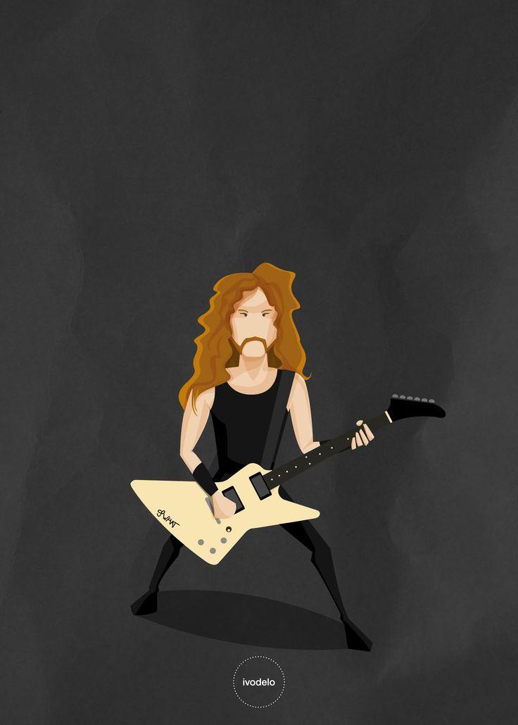 James Hetfield www.ivodelo.com  please repin it, if you want!  Thank you. #james #hetfield #metallica #illustration #funny