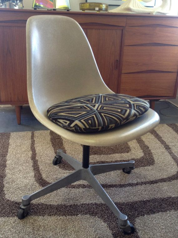 Mid century eames herman miller fiberglass rolling chair on etsy 132