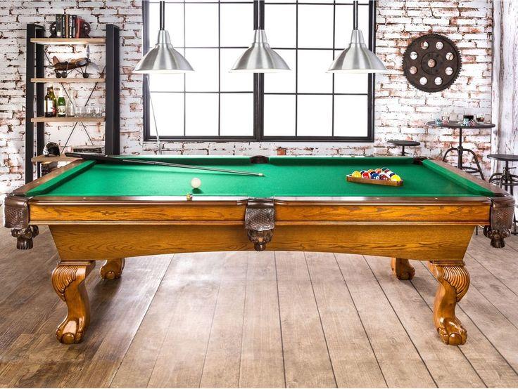 Billiards N Ball Set 8 Ft Pool Table Set Game Room Billiards Table W Cues N Rack #FurnitureOfAmerica #Pool #Table #Set #Game