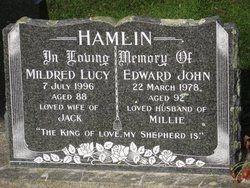 Mildred Lucy Millie <i>Mudford</i> Hamlin 198 - 1996