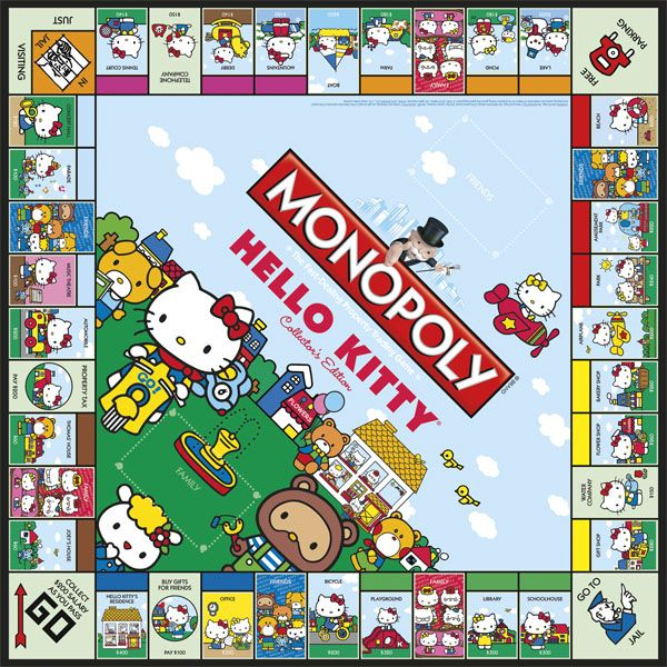 MONOPOLY: Hello Kitty Collector's Edition  Hello Kitty brings a sweet style to America's favorite board game in this special Collector's Edition of the MONOPOLY game. Enter Hello Kitty's world as you buy, sell and trade locations in her hometown of London
