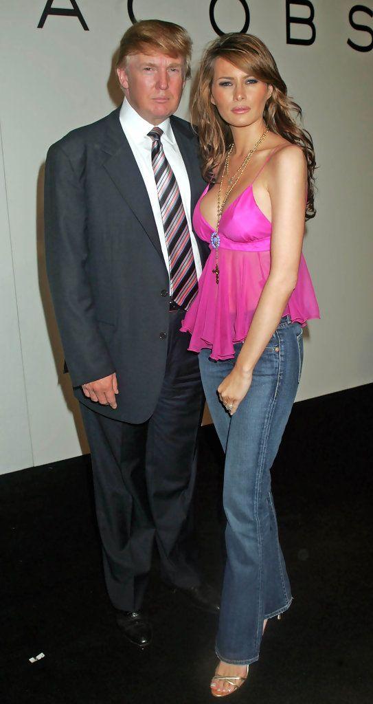 Donald Trump and Melania Trump Photos Photos - Marc Jacobs fashion show - Zimbio