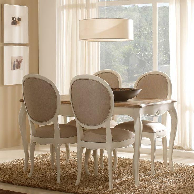 Sillas para comedor tapizadas sillas para comedor tapizadas d clsico elegante mechones botn - Sillas provenzal tapizadas ...