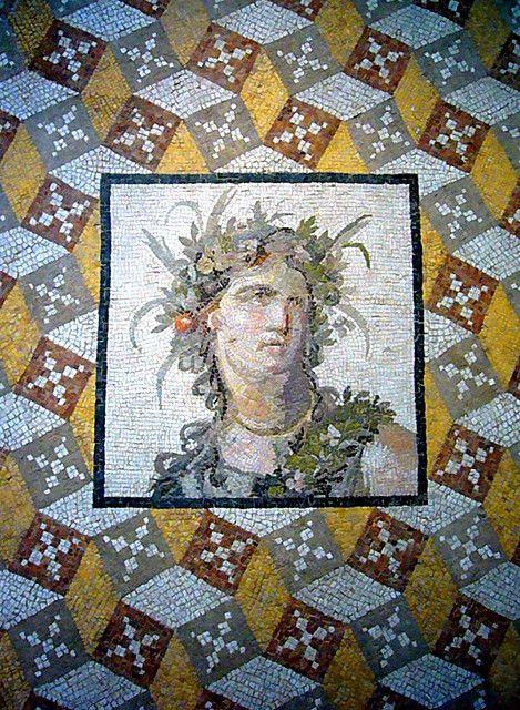 Roman Mosaic Floor Panel 2nd Century A.D. Excavated near Antioch (modern Antakya, Turkey).