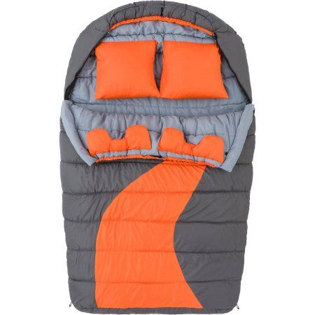 Ozark Trail 20F degree Cold Weather Double Mummy Sleeping Bag, Orange