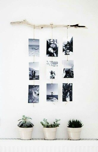 Simpele maar super leuke manier om foto's op te hangen