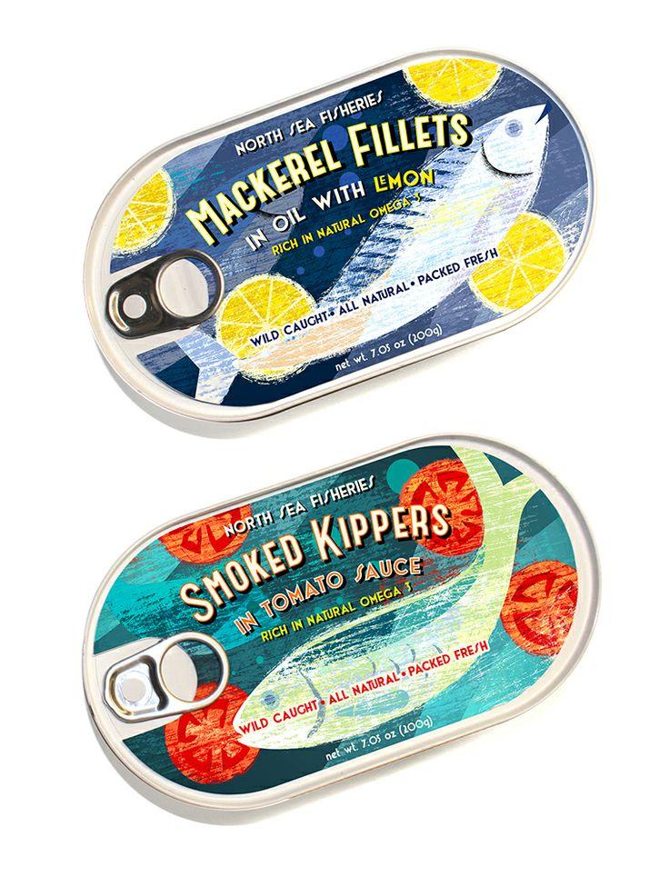 Fish packaging graphics idea by Michael Crampton.