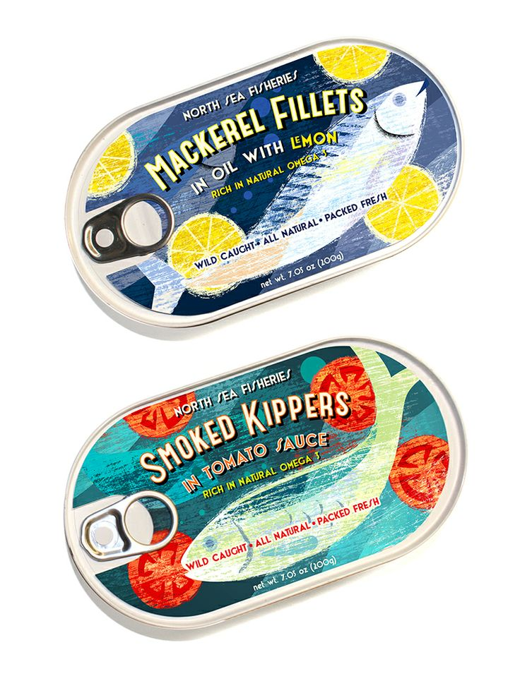 Fish packaging graphics idea by Michael Crampton.