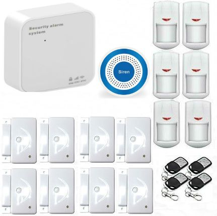 Smart WIFI GSM Alarm Wireless PIR Infrared Motion Sensor Wireless Alarm System With Wireless Siren APP push/SMS/Voice monitoring