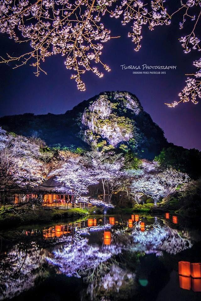 Cherry blossoms - Mifuneyama-rakuen, Saga, Japan