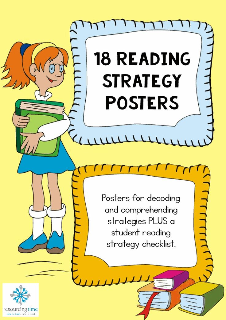 18 Reading Strategy Posters Plus Student Checklist