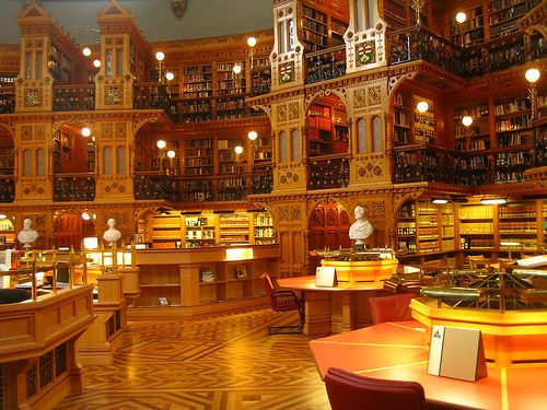 Library of Parliament (reading room), Ottawa, Ontario, Canada