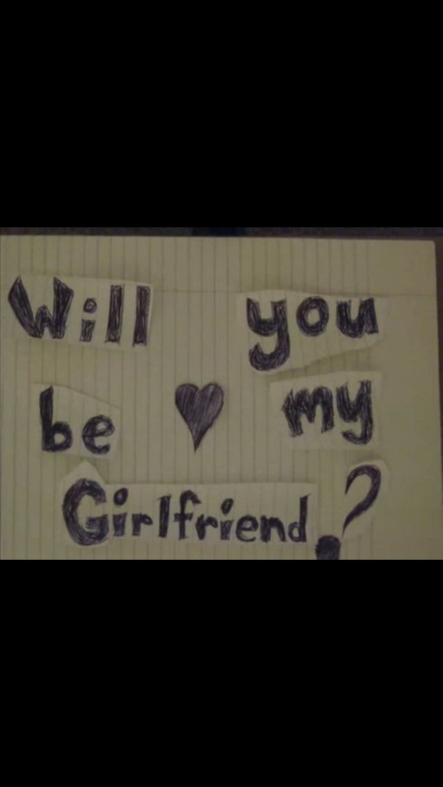#will you be my girlfriend