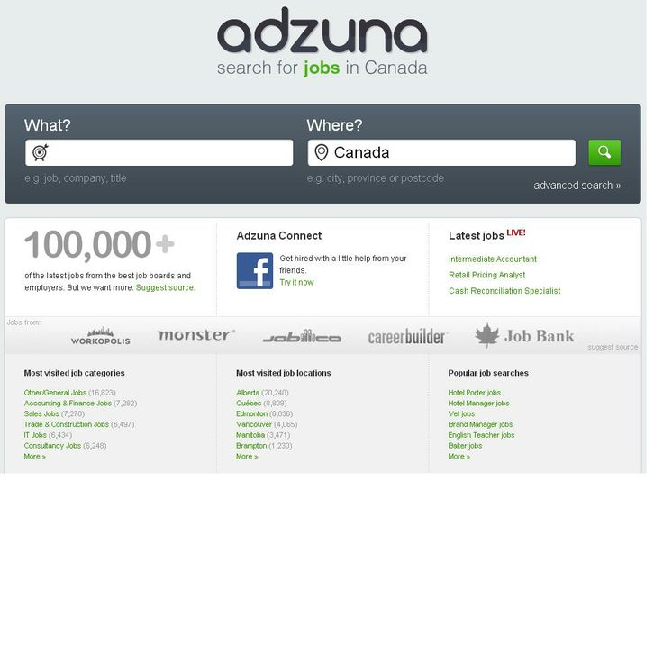 Adzuna - Job finder website   http://www.adzuna.ca/