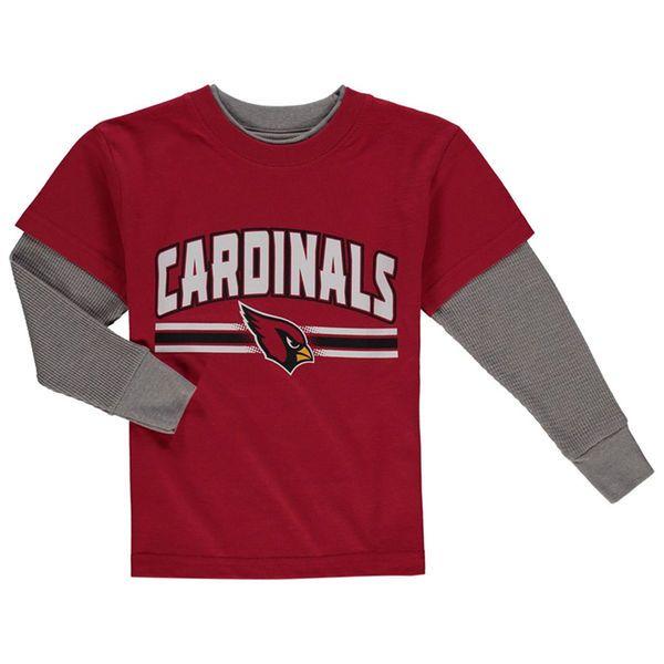 Arizona Cardinals Toddler Fan Gear Bleachers Faux Layer Long Sleeve T-Shirt - Cardinal - $19.99