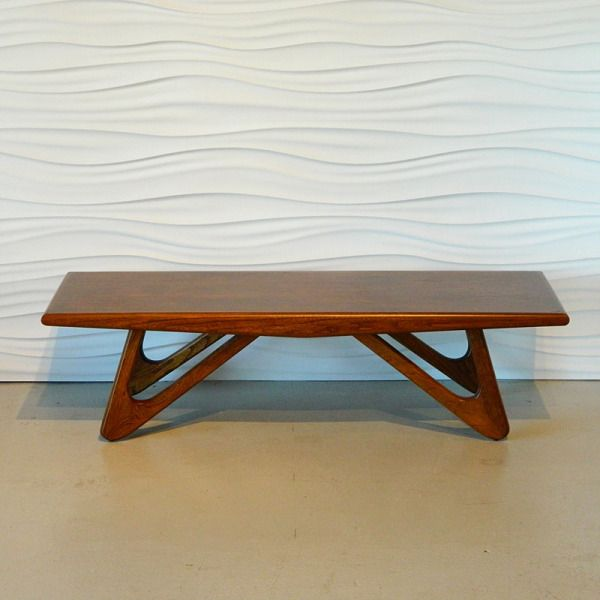 Lane Pearsall Coffee Table: Look At Those Legs! Adrian Pearsall Walnut Coffee Table